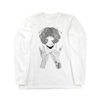 狂 Long sleeve T-shirts