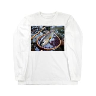 フライフィッシング アマゴ Long sleeve T-shirts
