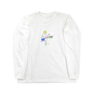 テニス 球拾い Long sleeve T-shirts