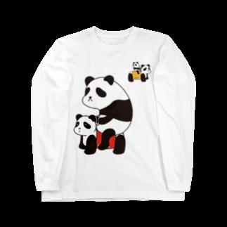 チョッちゃんのパンダカー Long sleeve T-shirts