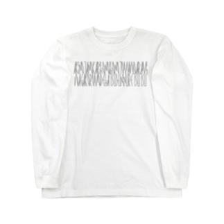 「百人一首 1番歌 天智天皇」カナクギフォントL Long sleeve T-shirts