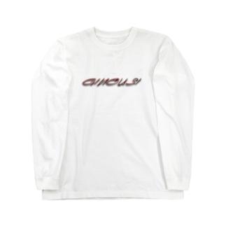 """ぎのうし群""""GINOUSHI(ワイヤー赤金)""""034 Long sleeve T-shirts"""