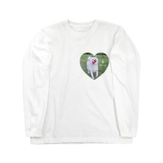 白柴シロのハートTシャツ Long sleeve T-shirts