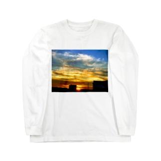 陽の沈み Long sleeve T-shirts
