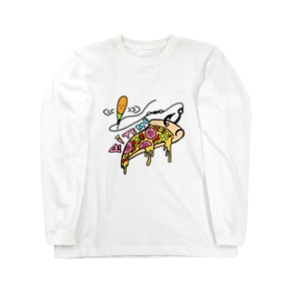 バイトミー ピザTシャツ Long sleeve T-shirts