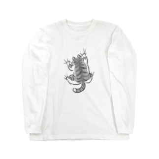 yojiyoji鯖トラ白 Long sleeve T-shirts