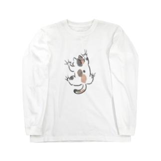 yojiyoji三毛猫 Long sleeve T-shirts
