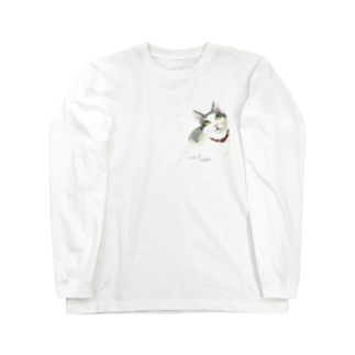 もけけ工房 SUZURI店のAsh baby Long sleeve T-shirts