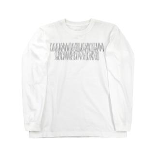 「百人一首 6番歌 中納言家持」カナクギフォントL Long sleeve T-shirts