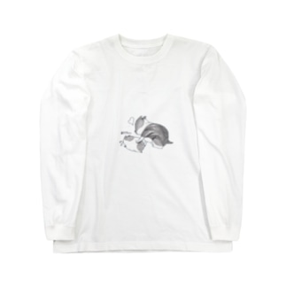 ハムルーとふー Long sleeve T-shirts