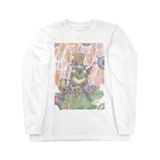 朝露と雨蛙の朝食 Long sleeve T-shirts