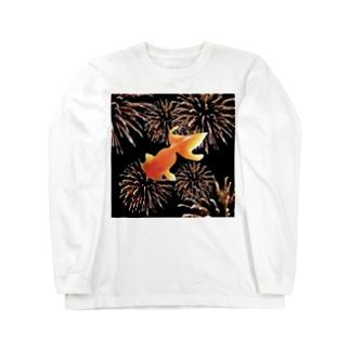 金魚花火 Long sleeve T-shirts