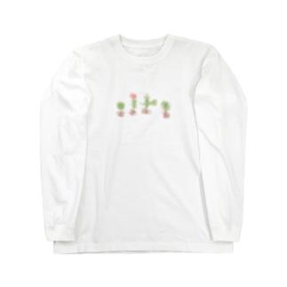 いろいろサボテン Long sleeve T-shirts