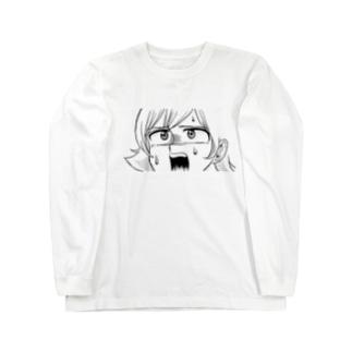 びっくりしている人 Long sleeve T-shirts