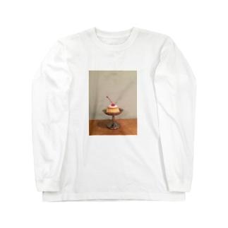 かためのプリン Long sleeve T-shirts