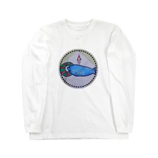 【ワッペンタイプ】◎*イルカ with YUNA*◎ Long sleeve T-shirts