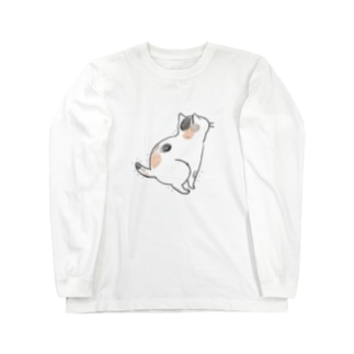 hunbaru三毛猫 Long sleeve T-shirts