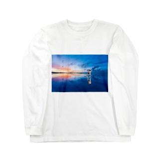 ウユニ塩湖ぜんらびとスウェット Long sleeve T-shirts