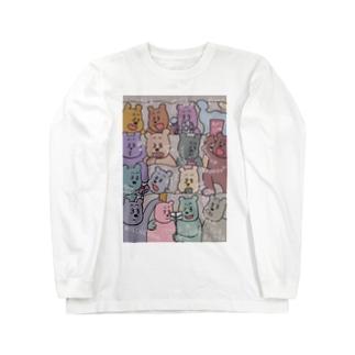 KAZUHIROSHOPのmanner bear Long sleeve T-shirts