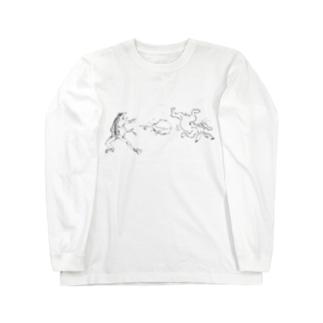 鳥獣戯画のやつ Long Sleeve T-Shirt
