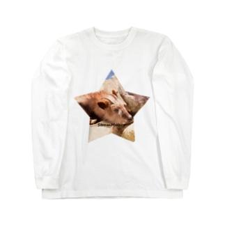 星とおやすみ動物 Long sleeve T-shirts