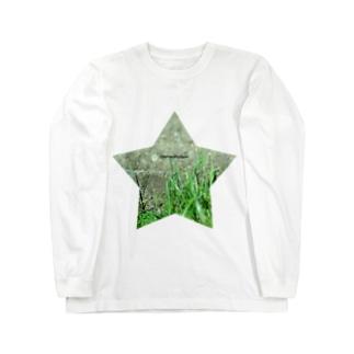 星と草と階段 Long sleeve T-shirts
