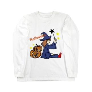 ウィッチとカボチャ Long sleeve T-shirts
