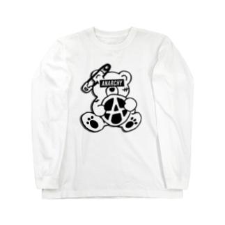 ANARCHY BEAR BL Long sleeve T-shirts
