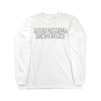 「百人一首 37番歌 文屋朝康」 Long sleeve T-shirts