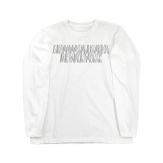 「百人一首 39番歌 参議等」カナクギフォントL Long sleeve T-shirts