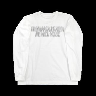カナクギフォントの「百人一首 39番歌 参議等」カナクギフォントL Long sleeve T-shirts