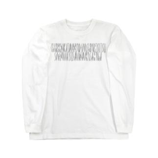 「百人一首 42番歌 清原元輔」カナクギフォントL Long sleeve T-shirts