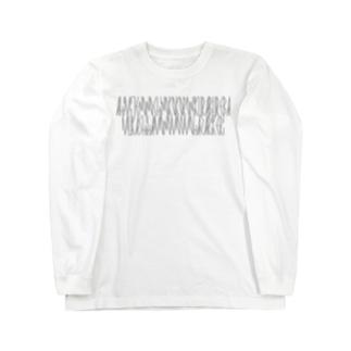 「百人一首 43番歌 権中納言敦忠」カナクギフォントL Long sleeve T-shirts