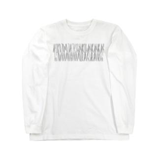 「百人一首 44番歌 中納言朝忠」カナクギフォントL Long sleeve T-shirts