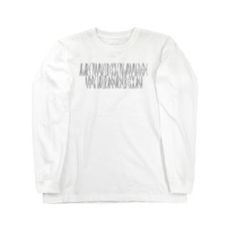 「百人一首 45番歌 謙徳公」カナクギフォントL Long sleeve T-shirts