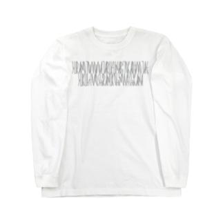 カナクギフォントの「百人一首 46番歌 曾禰好忠」カナクギフォントL Long sleeve T-shirts