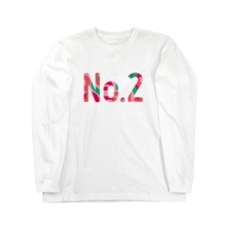 2番T(PINK) Long sleeve T-shirts