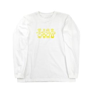 土偶たち イエロー Long sleeve T-shirts