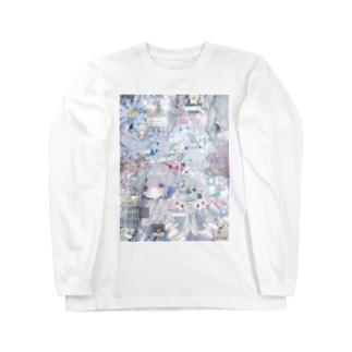 あんしん×リスカちゃん milk  Long sleeve T-shirts