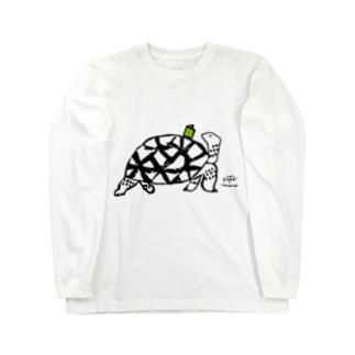 本好きカメ Long sleeve T-shirts