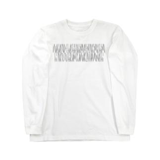 「百人一首 92番歌 二条院讃岐」カナクギフォントL Long sleeve T-shirts