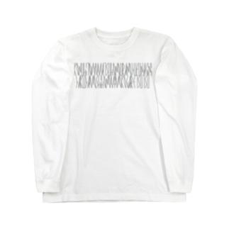 「百人一首 97番歌 権中納言定家」カナクギフォントL Long sleeve T-shirts