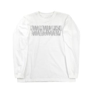 「百人一首 99番歌 後鳥羽院」カナクギフォントL Long sleeve T-shirts