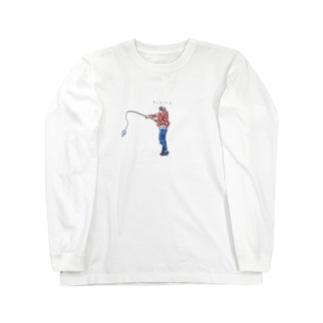 釣り人(カラー) Long sleeve T-shirts