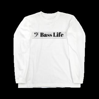 もりてつのBass Life Long sleeve T-shirts