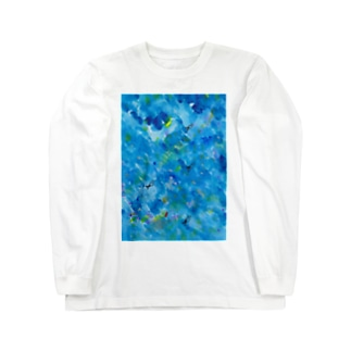 ブルーのおとと Long sleeve T-shirts