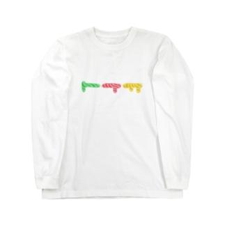 すなみたいなもようのかたちがみっつ Long sleeve T-shirts