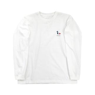 ルースニアイタイ_イケルカモ_黒字 Long sleeve T-shirts