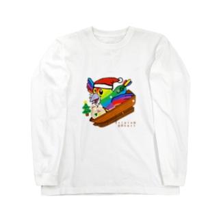 トリハー君(クリスマス) Long sleeve T-shirts