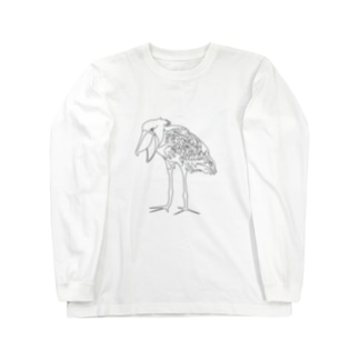 ハシビロコウ Long sleeve T-shirts